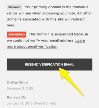 Fixing A Suspended Squarespace Domain Squarespace Help