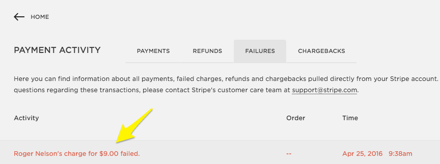 Failed customer payments – Squarespace Help
