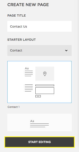 Click Start Editing To Begin Adding Content