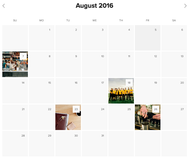 Using Calendar Blocks – Squarespace Help