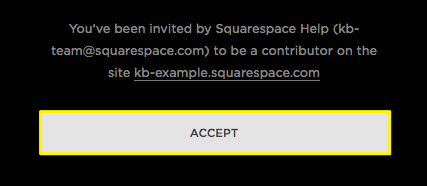 Accepting a contributor invitation squarespace help if your device is currently logged into a squarespace account other than the one that received the invitation youll be prompted to log in using a stopboris Image collections