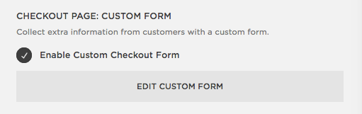 Squarespace Help - Checkout settings