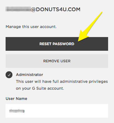 Resetting a G Suite password – Squarespace Help