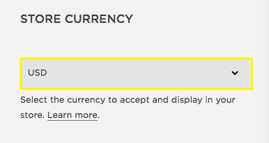 Selecting your store's currency – Squarespace Help